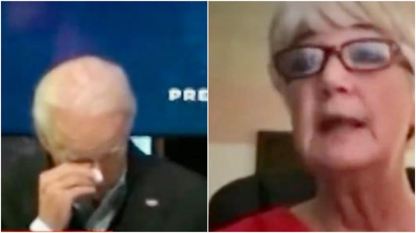 Joe Biden llora al escuchar a una enfermera describir como es tratar a pacientes con COVID-19 en terapia intensiva