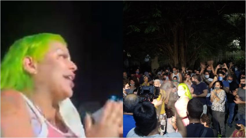 Cantante La Diosa se suma a los artistas cubanos que se encuentran en el Ministerio de Cultura exigiendo un cambio en Cuba