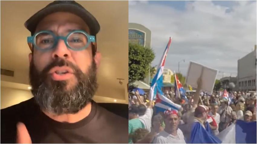 Presentador cubano Alexander Otaola convoca a los cubanos en Miami a reunirse en el Versailles para apoyar a los jóvenes cubanos que piden un cambio en Cuba