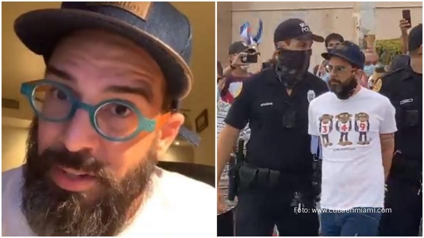 Alex Otaola habla sobre su detención durante la manifestación en Miami expresa su apoyo a la policía