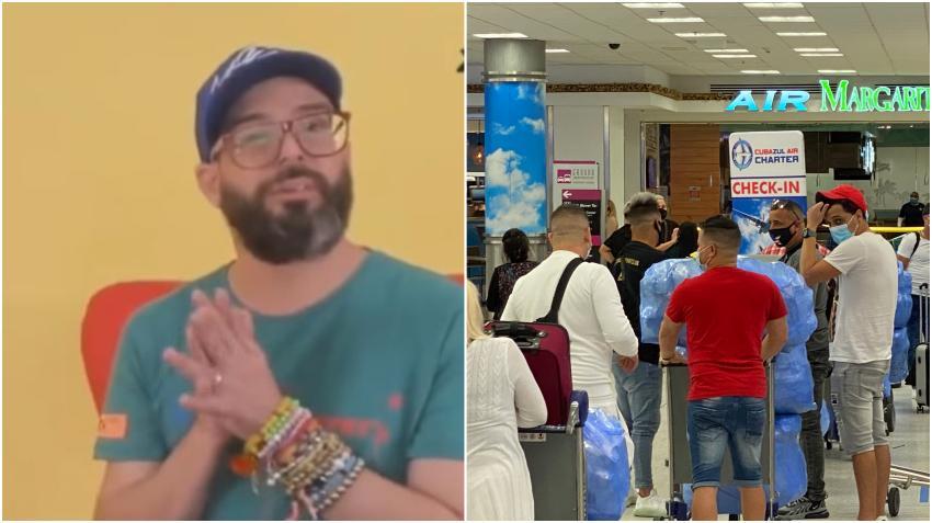 Presentador cubano Alexander Otaola se pregunta porqué hay tantos hombres solos viajando a Cuba en los primeros vuelos
