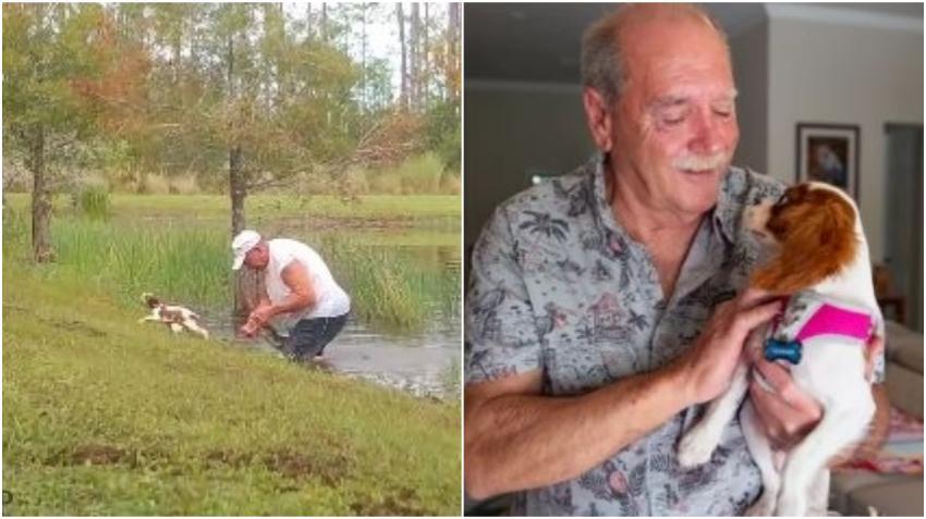 Hombre de Florida que salvó a su perrito de la boca de un caimán cuenta la aterradora experiencia