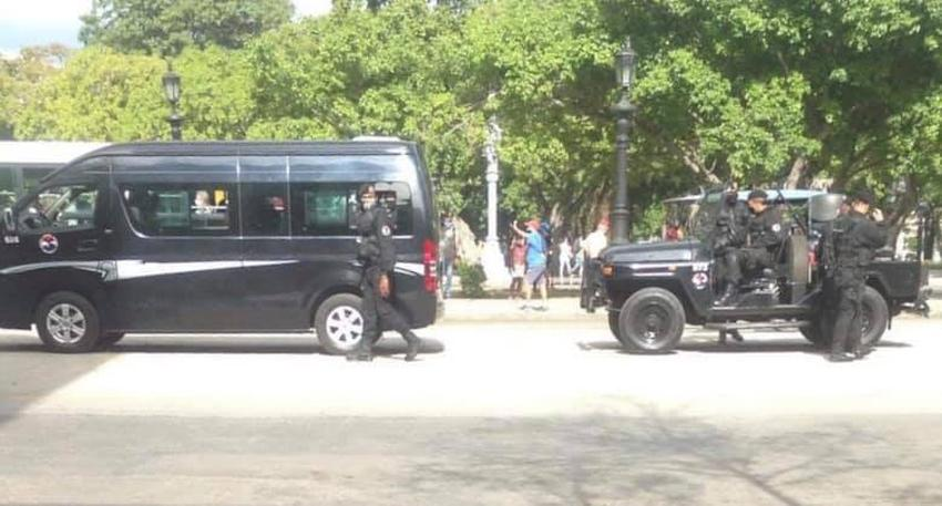 Reporten desde Cuba indican fuerte despliegue policial en La Habana