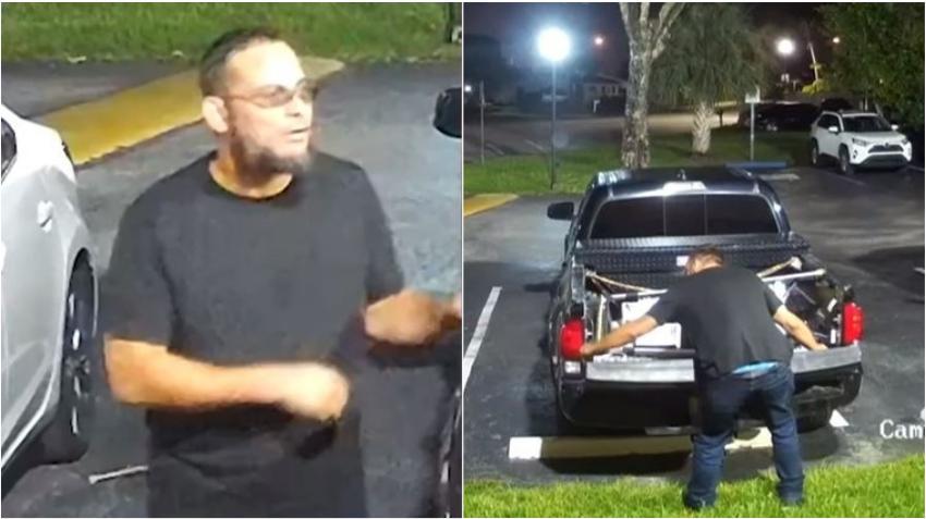 Buscan a ladrones de puertas de camionetas en el área de Kendall en Miami