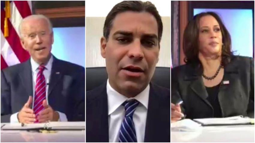 Alcalde de Miami discute COVID-19 con Biden y Harris durante reunión virtual de alcaldes estadounidenses