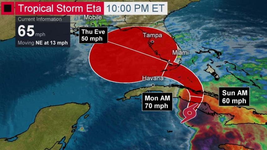 DeSantis declara estado de emergencia a medida que la tormenta Eta avanza hacia el sur de Florida