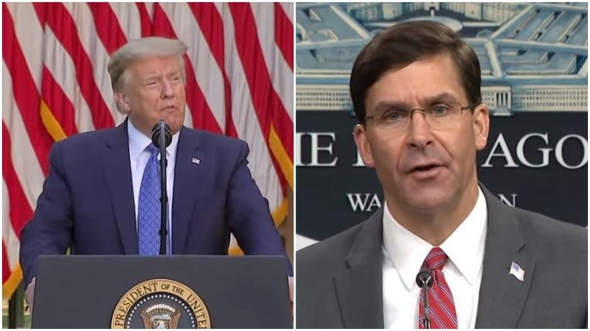 Presidente Donald Trump despide al Secretario de Defensa Mark Esper