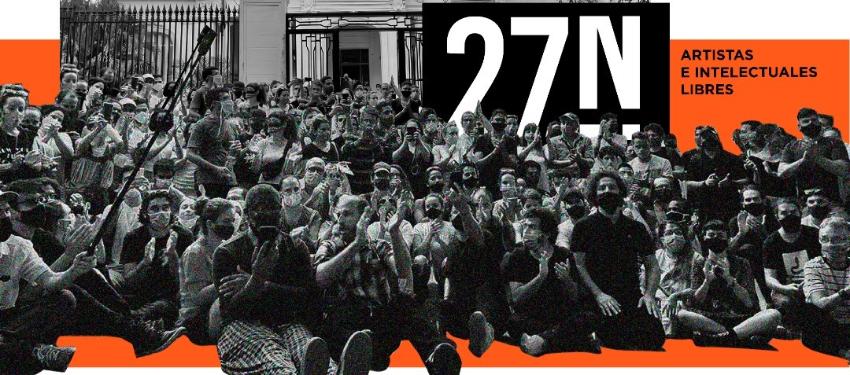 """Artistas e intelectuales del 27N: """"Sin libertad política no puede haber libertad artística"""""""