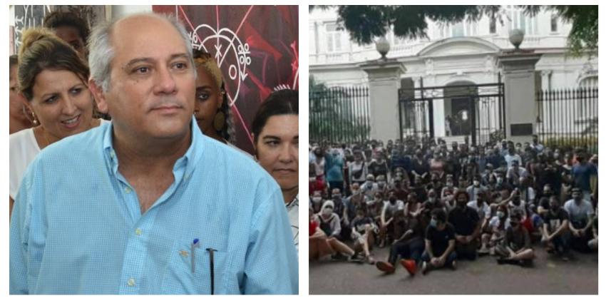 """Ministro de Cultura cierra el diálogo con jóvenes artistas e intelectuales del 27N: """"Con los mercenarios no nos entendemos"""""""