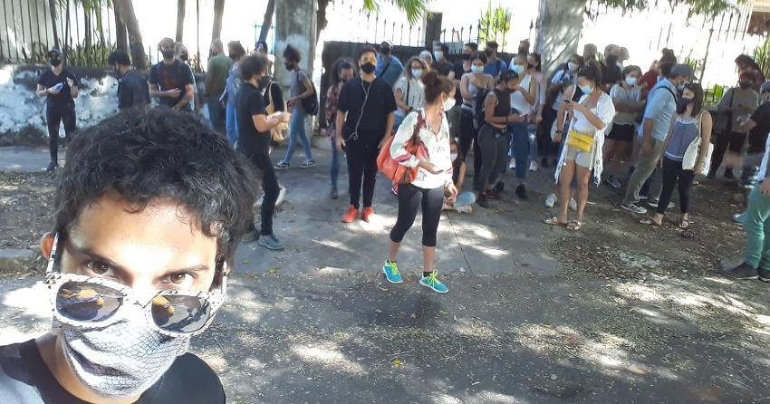 """Desde La Habana joven del 27N le responde al régimen: """"Yo no soy un mercenario"""""""