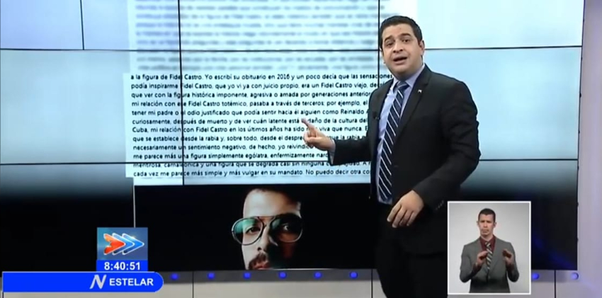 """Dramaturgo llama """"pseudoperiodista"""" a Humberto López, y critica la UPEC le concediera el Premio Dignidad"""