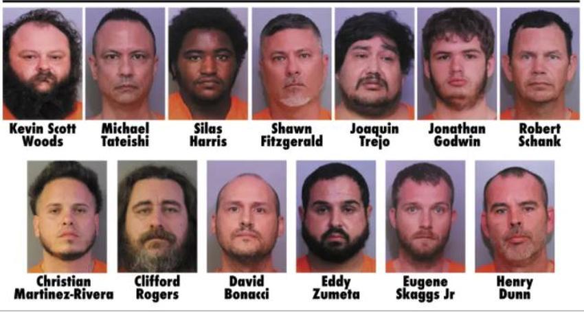 Trece hombres son arrestados en Florida por poseer contenido explícito de menores de edad
