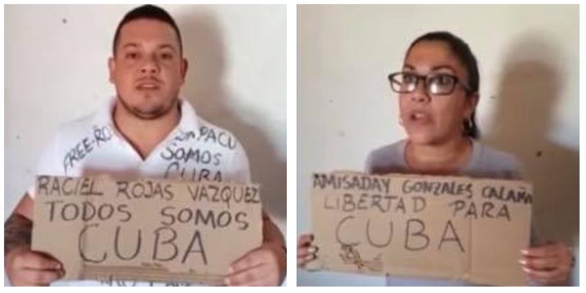 Migrantes cubanos varados en la frontera alzan su voz en apoyo al MSI