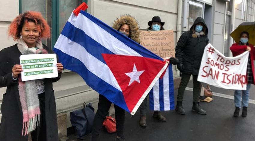 Cubanos se siguen manifestando en Roma y en Noruega pidiendo el fin de la dictadura, en Miami preparan procesión en apoyo al MSI