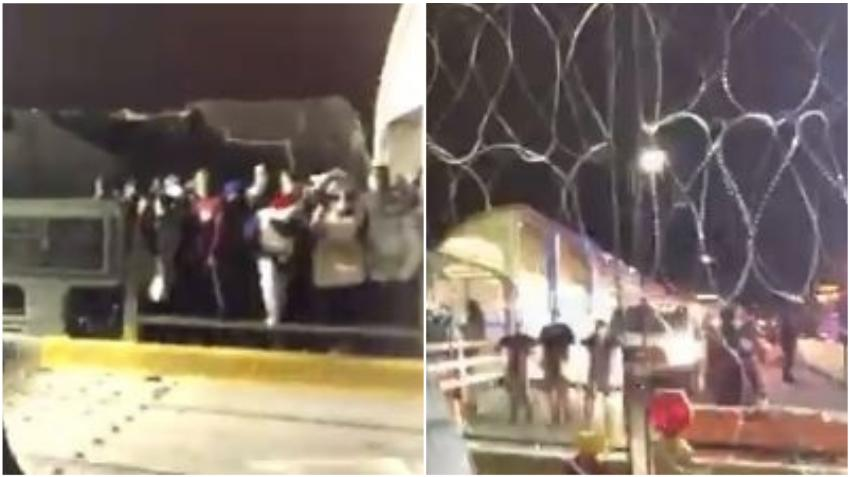 Más de 100 migrantes cubanos intentan cruzar puente fronterizo de México a EEUU y causan su cierre