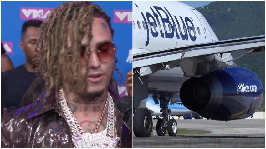 Aerolínea JetBlue veta de por vida al rapero de Miami Lil Pump por negarse a usar máscara en un vuelo