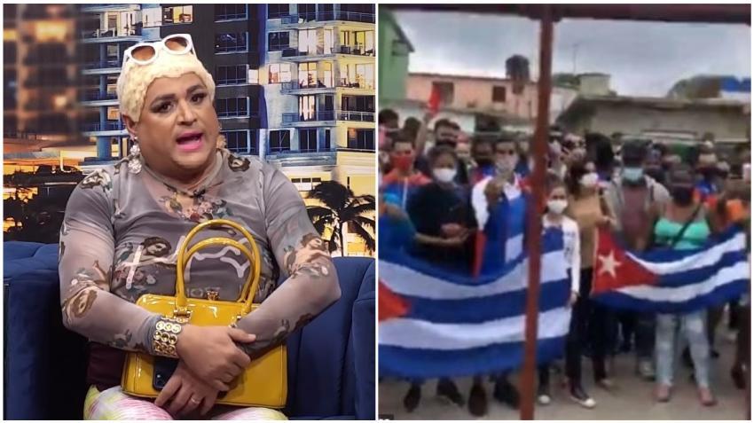 """Andy Vázquez en el personaje de Lina tiene la solución para acabar con los actos de repudio en Cuba: """"Tírales un puñado de dólares"""""""