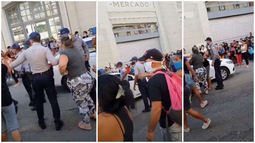 Tensión en una cola en el Mercado Cuatro Caminos con varios arrestos