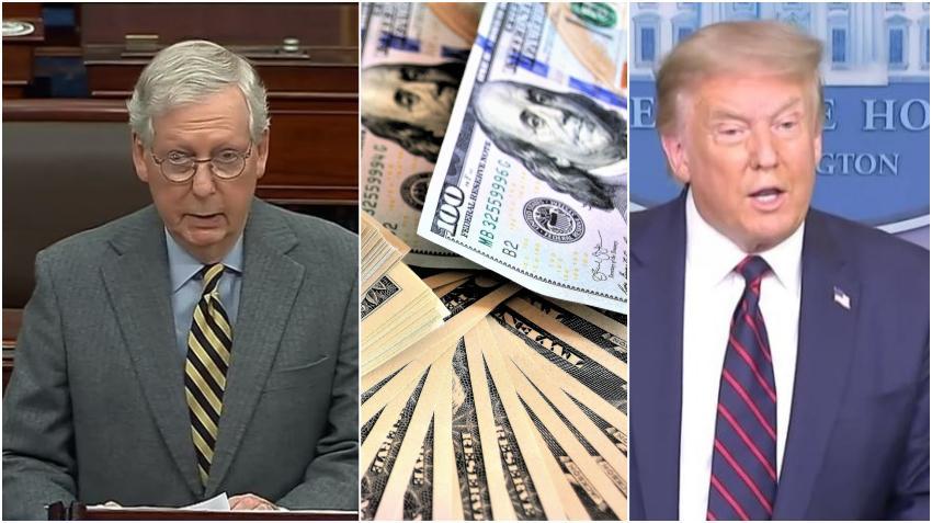 Líder republicano del Senado Mitch McConnell ignora el pedido del presidente Trump y no habrá por ahora votación para el cheque de $2000 dólares