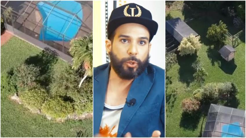 Presentador cubano Alexander Otaola muestra vistas aéreas de su nuevo rancho