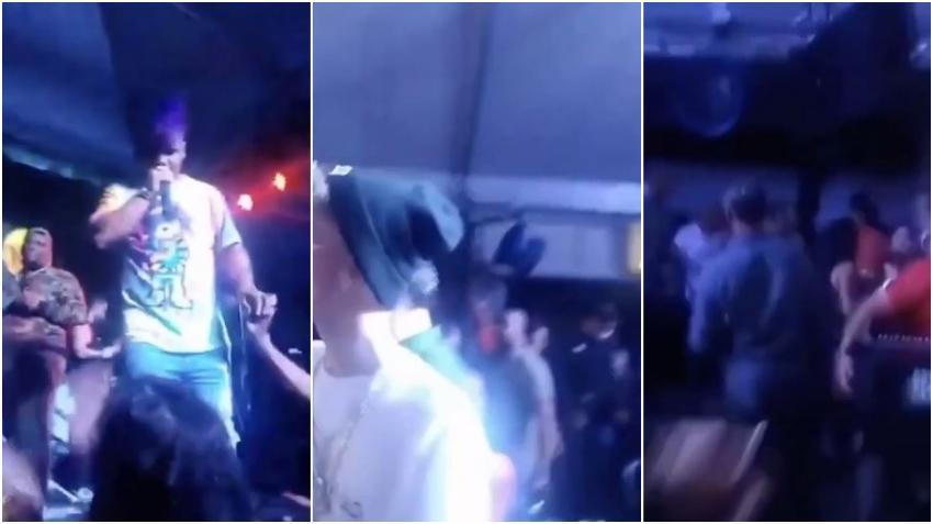 Concierto en Miami de los reguetoneros cubanos El Negrito, El Kokito y Manu Manu termina con golpes y lanzamiento de botellas