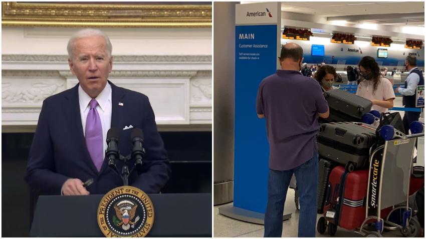 Presidente Biden impondrá nuevamente restricciones de viajes a Brasil, Irlanda, Reino Unido y otros 26 países europeos