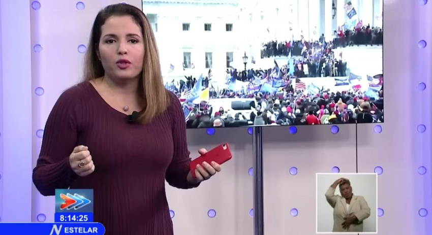 Cubanos le responden en las redes a la periodista oficialista Cristina Escobar por difamar el modelo democrático de EEUU