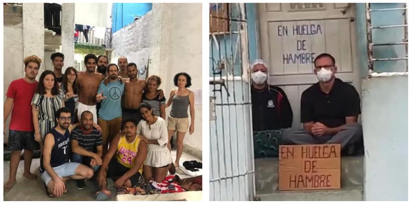 Comunicado de los Acuartelados de San Isidro en apoyo a la huelga de hambre de José Daniel Ferrer y su esposa