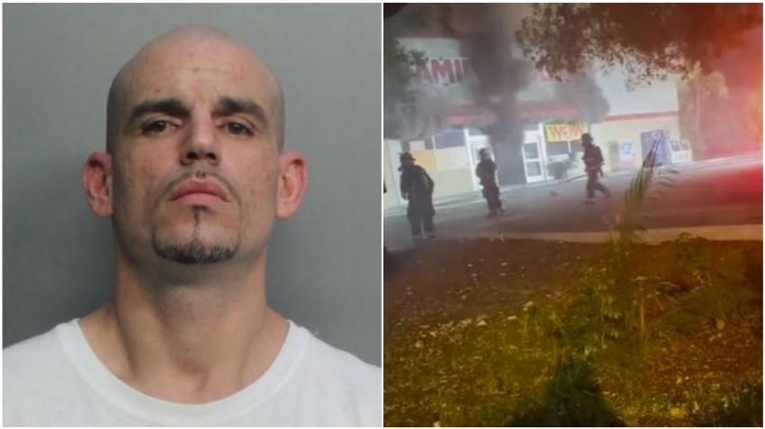 Arrestado un hombre por presuntamente incendiar un Family Dollar en Hialeah