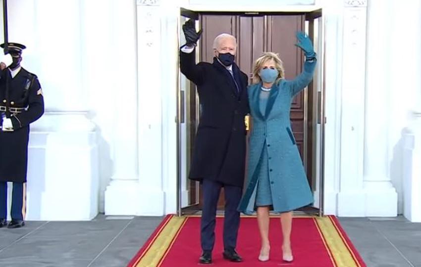 Presidente Joe Biden llega a la Casa Blanca