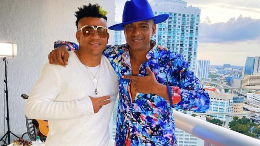 """Descemer Bueno junto a Randy Malcom en Miami grabando el videoclip del tema """"Chocolate con Fresa"""""""