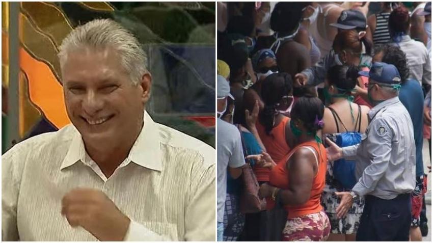 Díaz-Canel agradece al pueblo cubano por seguir aguantando y comprender a la dictadura