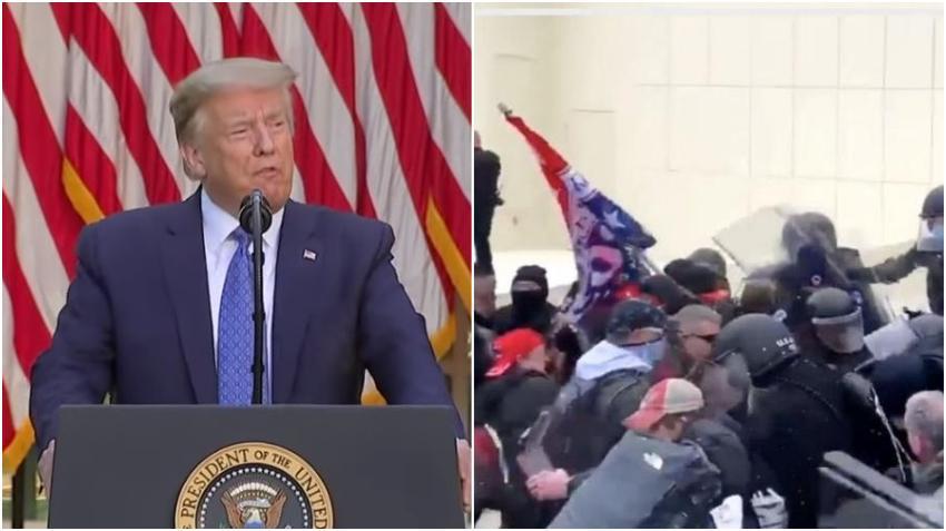Presidente Trump pide a los manifestantes respeto para la policía del Capitolio y que se mantengan pacíficos