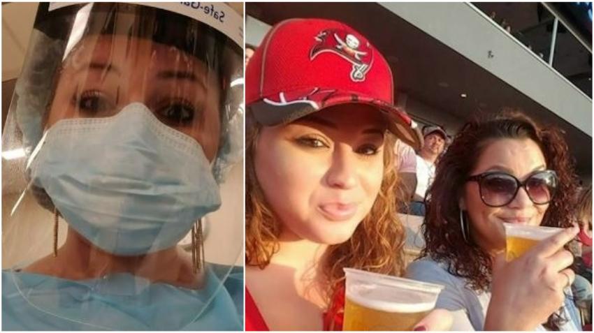 Enfermera de Florida que trabaja en unidad especial del Covid-19 recibe tickets gratis para el Super Bowl en Tampa