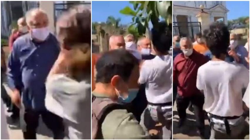 Funcionarios del Ministerio de Cultura en Cuba golpean a jóvenes cubanos que protestaban en la calle