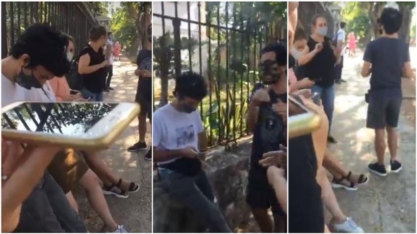 Jóvenes cubanos vuelven al Ministerio de Cultura para protestar los arrestos de activistas en Cuba
