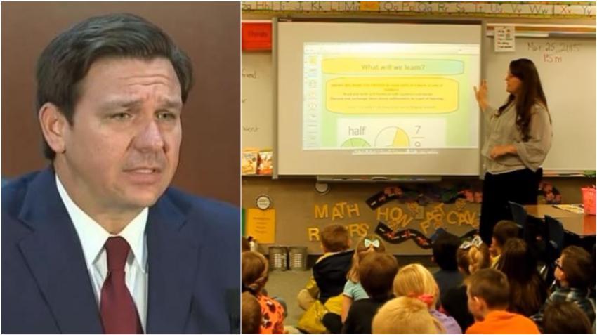 Gobernador de Florida niega la prioridad de vacunas para maestros y el personal escolar