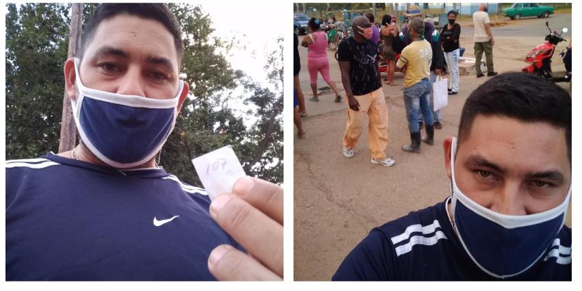 Médico cubano sin saber si alcanzará pollo, en una cola tras 24 horas de guardia