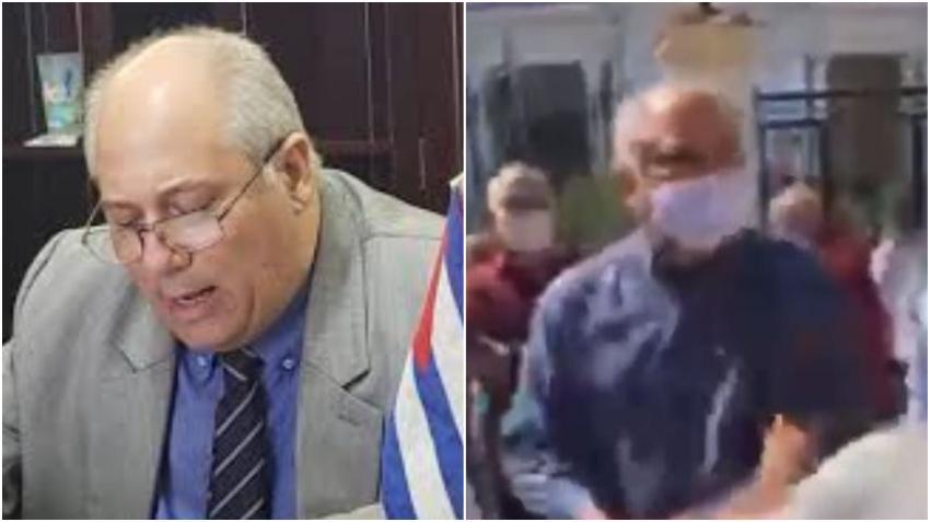El Ministro de Cultura Alpidio Alonso fue uno de los que golpeó a jóvenes pacíficos que protestaban frente al ministerio