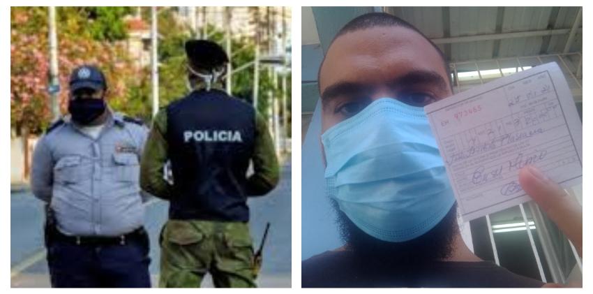 La Habana: Un periodista y su hermano médico multados con 2.000 CUP, por comerse una pizza en la calle, alejados de la gente