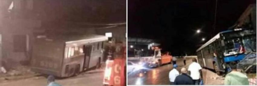 Un ómnibus impactó una vivienda en La Habana