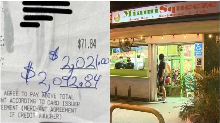 Dejan una propina de $2021 dólares en un bar de jugos en Miami