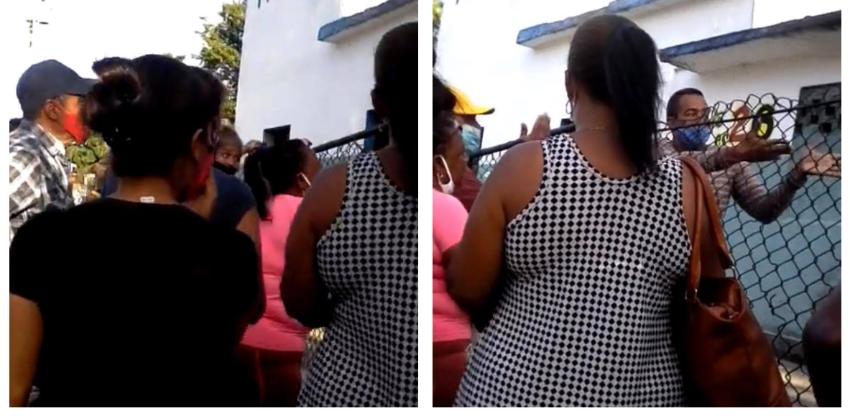 """Cubanos protestan afuera de una panadería en Mantilla, La Habana: """"Es un abuso, a los cinco minutos ya no había pan"""""""