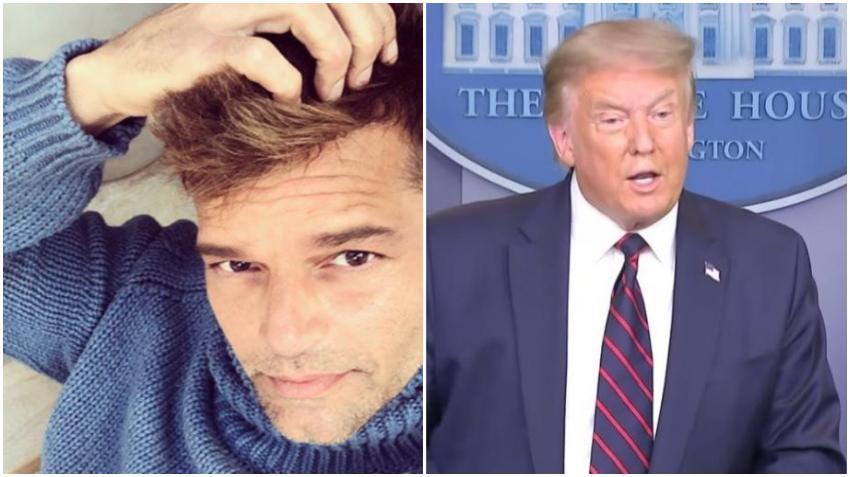 Cantante puertorriqueño Ricky Martin asegura que espera que apliquen la enmienda 25 a Donald Trump