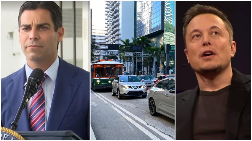 Alcalde de Miami Francis Suárez y el multimillonario Elon Musk continúan planes de construir túneles para aliviar el tráfico en el centro de la ciudad