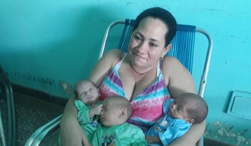 Madre cubana de Holguín culmina el 2020 con el nacimiento de trillizos