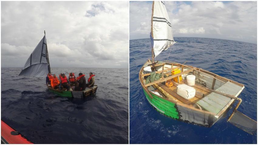 Guardia Costera de Estados Unidos repatria a Cuba a 7 balseros cubanos interceptados en el mar