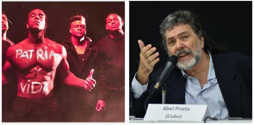 """Vocero del régimen, Abel Prieto, critica al éxito de """"Patria y Vida"""""""
