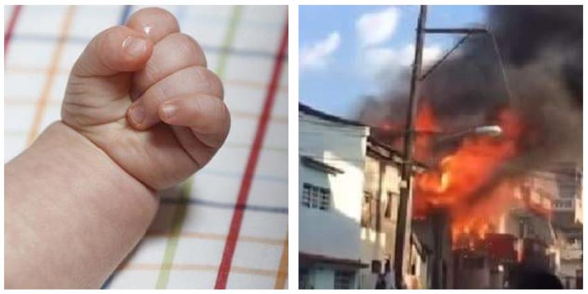 """Bebé cubana perdió todo en un incendio, piden ayuda en las redes: """"Todo sirve pomos de leche, tete, lo que sea...la familia lo agradecerá"""""""