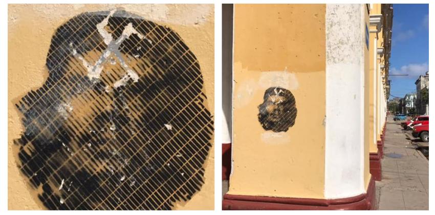 Una esvástica sobre la figura del Che en La Habana: la respuesta de los cubanos tras 62 años de adoctrinamiento y miseria